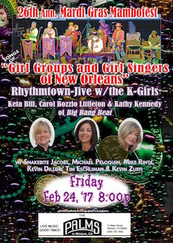 Rhythmtown-Jive + the K-Girls poster for 2-24-17